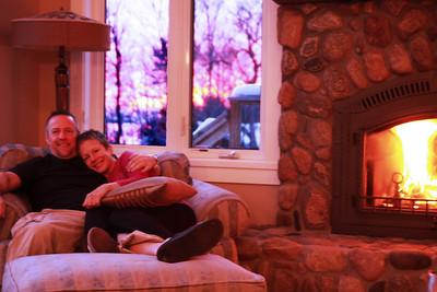 Dan & Deb by the fire