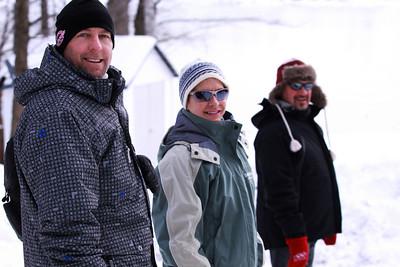 Dan, Deb & Tim walk in Parry Sounds