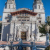 A church near the gardens at Hearst Castle.