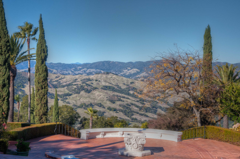 More great views from the courtyard and gardens at Hearst Castle.