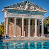 Greco-Roman architecture at the Neptune Pool in Hearst Castle.