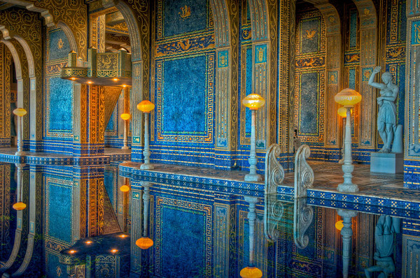 The Roman Pool, inside Hearst Castle, which is styled after an ancient Roman Bath.