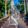There were lots of sculptures all over the gardens at Hearst Castle.
