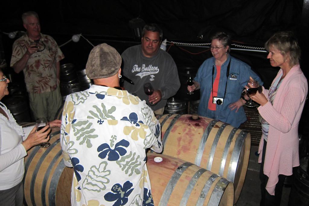 Barrel tasting with Larry at Via Vega