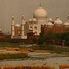 Taj Mahal from Agra's Red Fort.