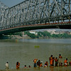 Howrah Bridge across the Hooghly at Calcutta (Kolkata).