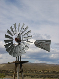 Windmill. Patagonië, Argentinië.