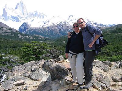 Teamfoto Mount Fitzroy. Patagonië, Argentinië.