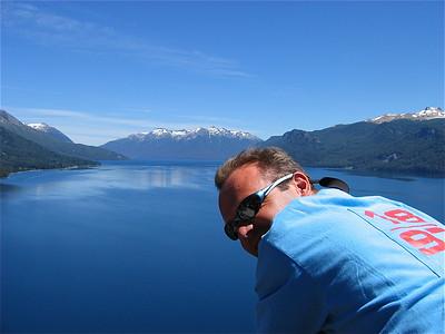 Lago Traful. Ruta de Siete Lagos. Patagonië, Argentinië.