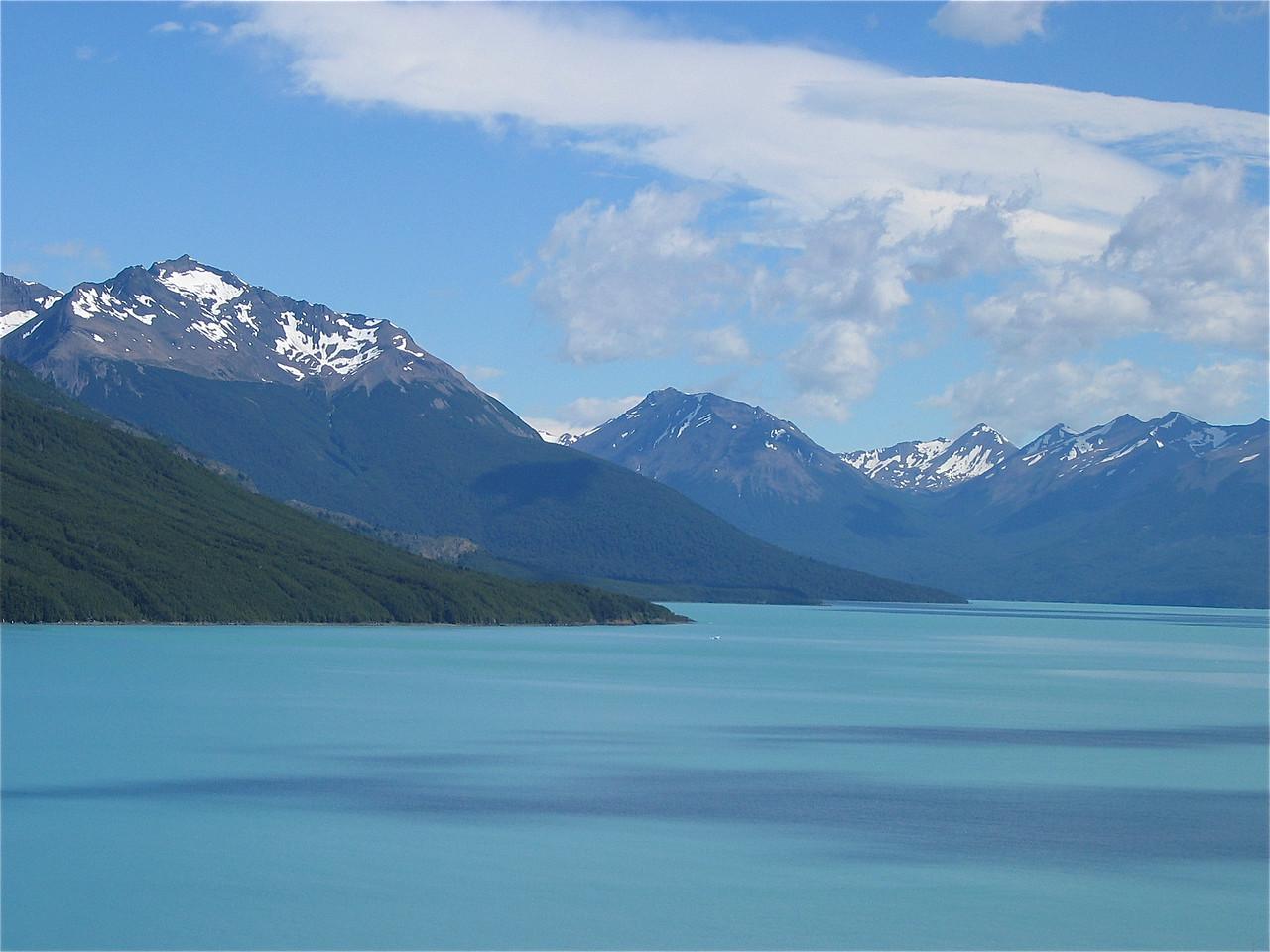 Lago Argentina, Patagonië, Argentinië.