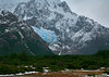 27. Day-two hike---large hanging glacier in the distance. Heavy clouds hid Mt. Fitz Roy from our view.