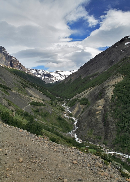 59. The Las Torres trail rises to a  high point, only to drop back down to river level before rising again.