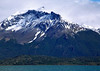 "37. From Puerto Natales, we take a day-long boat trip on the ""Fiordo Ultima Esperanza"" (Fiord of Last Hope). Snow-capped peaks surround us."