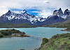 43. A nearly three-hour bus ride (more gravel roads) brings us into  the Torres del Paine Park. Our lodging in the park, Hosteria Pehoé .