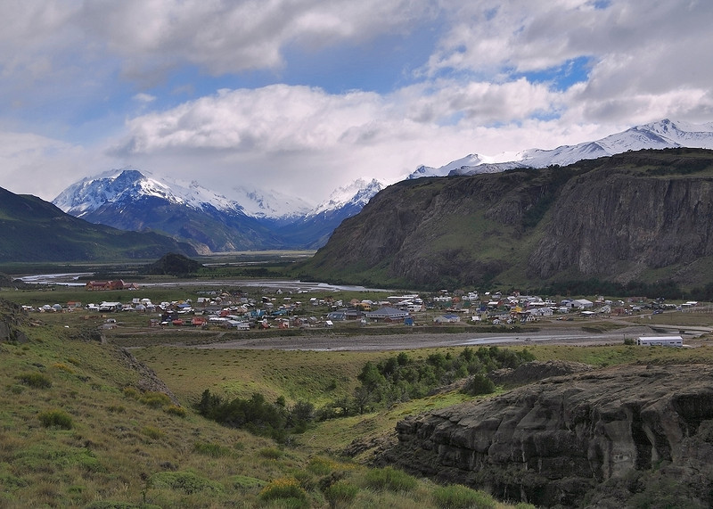 14. Town of El Chalten, several hours north of El Calafate.