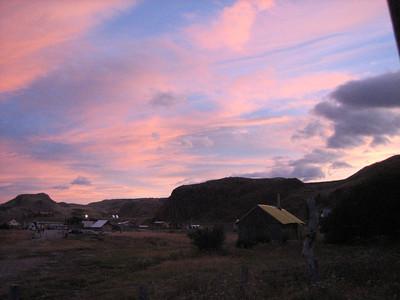El Chalten at sunset.