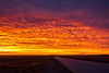 Sunset clouds light up Tierra del Fuego