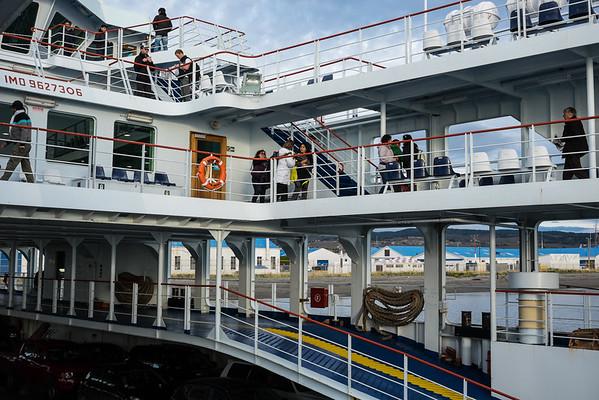 The ferry from Punta Arenas to Porvenir