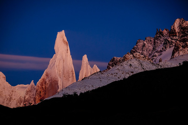 First snows on the summit of Cerro Torre