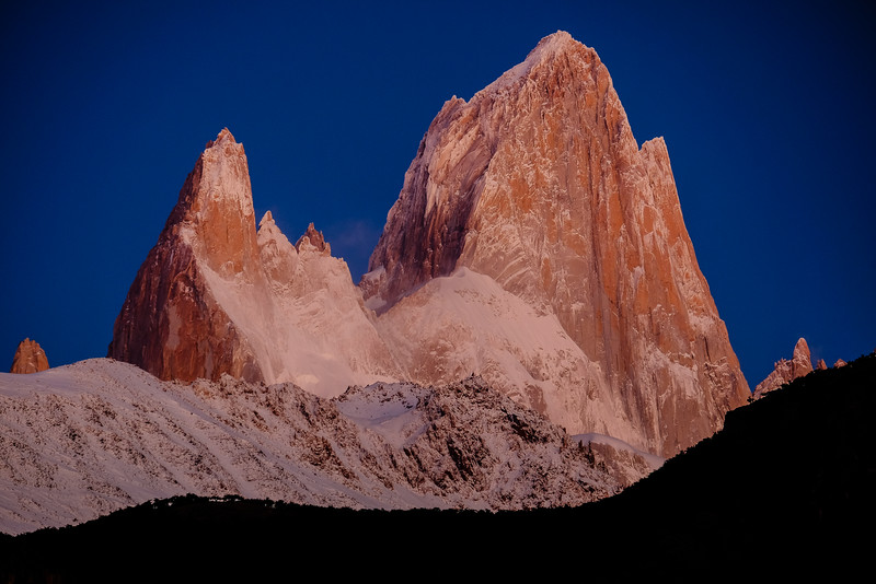 First snow on Fitz Roy
