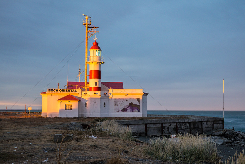 Lighthouse at sunset, Magellan Straits, Chile