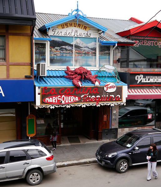 OAT Patagonia trip, Dec 2013. Ushuaia.<br /> Freddy's, where many of us had dinner one night.