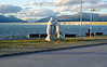 "OAT Patagonia trip, Dec 2013.<br /> Puerto Natales, Chile. This statue was just across the street from our hotel.<br /> Rough translation:<br /> ""Alberto de Agostini<br /> Scientist-Explorer<br /> Salesian Missionary<br /> 1883-1960<br /> Donated by the Margoni Altamirano family in 2011""<br /> ADDL INFO:  Father Alberto Maria De Agostini (2 November 1883 – 25 December 1960) born in Pollone, Piedmont, was an Italian missionary of the Salesians of Don Bosco order as well as a passionate mountaineer, explorer, geographer, ethnographer, photographer, and cinematographer.<br /> De Agostini lived as a missionary in Tierra del Fuego and Patagonia, between Chile and Argentina, where he was the first person to reach several mountain peaks, glaciers and sea sounds; and discovered others, some named after him.<br /> In January–February 1931 he, Egidio Feruglio, and the alpine mountain guides Croux and Bron, were the first to fully cross the Southern Patagonian Ice Field; they did it from Lago Viedma (Argentina) to the vicinity of Patagonian channels of the Pacific Ocean (Chile), and back.<br /> He also sustained a long and deep relationship with the native people of Tierra de Fuego.<br /> In addition he left behind 22 books and written works in Italian, German and Spanish; a precious collection of several hundred photographies; and a documentary film; all of them on Patagonia and Tierra de Fuego and the Fuegian tribes.<br /> He died in Turin on Christmas Day, 1960.<br /> There is now an Alberto de Agostini National Park in the west part of Tierra del Fuego named after him."