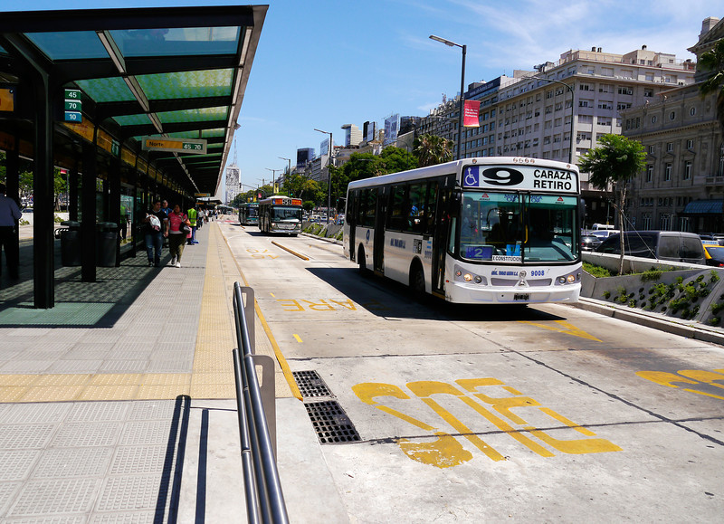 """OAT Patagonia trip, Dec 2013.<br /> Special bus lanes in Buenos Aires.<br />  <a href=""""http://en.wikipedia.org/wiki/Retiro"""">http://en.wikipedia.org/wiki/Retiro</a>,_Buenos_Aires"""