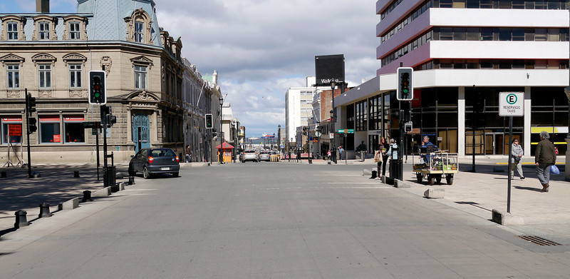 OAT Patagonia trip, Dec 2013.<br /> Punta Arenas, Chile. The Main Square, on the left, is just blocks from the waterfront.