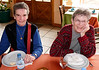 OAT Patagonia trip, Dec 2013. Christine Desmond (left) and Elizabeth  Collins (right).<br /> Restaurant where we had lunch today.