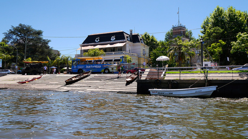 """OAT Patagonia trip, Dec 2013.<br /> Buenos Aires delta area, Tigre.  No cars are allowed on these small delta islands<br /> so all traffic is via boat.  Kind of a resort area for the people of Buenos Aires.<br />  <a href=""""http://en.wikipedia.org/wiki/Tigre"""">http://en.wikipedia.org/wiki/Tigre</a>,_Buenos_Aires"""