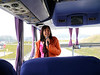 OAT Patagonia trip, Dec 2013.<br /> Our Ushuaia Guide, another Silvia, greets us on the bus at the airport.