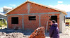 OAT Patagonia trip, Dec 2013.<br /> Silvia's new house, under construction, in El Calafate, Argentina.