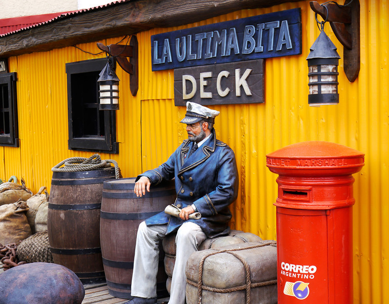 "OAT Patagonia trip, Dec 2013.<br /> This souvenir store, ""La Ultima Bita"" (The Last Bite?), in Ushuaia has a little free tourist park behind the store with some neat picture opportunities."