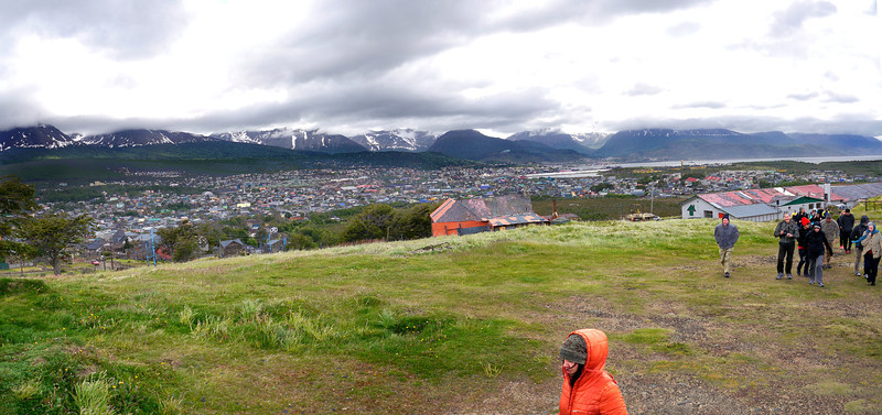 "OAT Patagonia trip, Dec 2013.<br /> We are on a very windy hill in Ushuaia where an old artillery gun is located, evidently from Operation Soberanía around 1978 when there was a border dispute with Chile.<br />  <a href=""http://en.wikipedia.org/wiki/Operation_Soberan%C3%ADa"">http://en.wikipedia.org/wiki/Operation_Soberan%C3%ADa</a>"