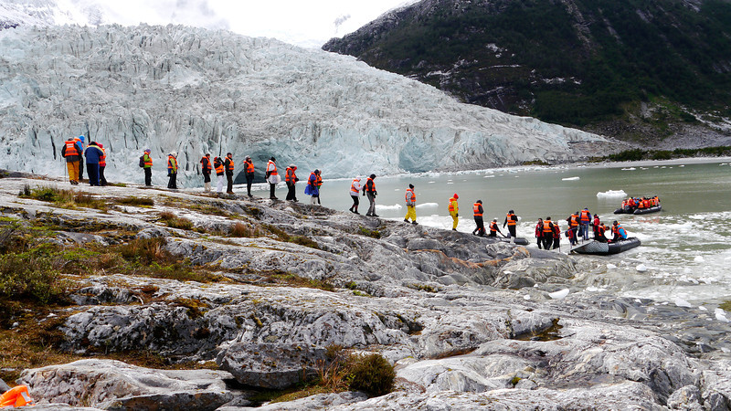 OAT Patagonia trip, Dec 2013.<br /> This portion of the tour took place on the Via Australis boat.<br /> Pia Glacier.