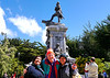 OAT Patagonia trip, Dec 2013.<br /> Punta Arenas, Chile. Monument to Magellan in main square.<br /> Got to have my picture taken with people I meet along the way!
