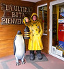 OAT Patagonia trip, Dec 2013.<br /> This souvenir store in Ushuaia has a little free tourist park behind the store with some neat picture opportunities.  Here I am in front of the store.
