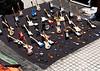 OAT Patagonia trip, Dec 2013. Buenos Aires street vendor that sells tiny guitars, etc.
