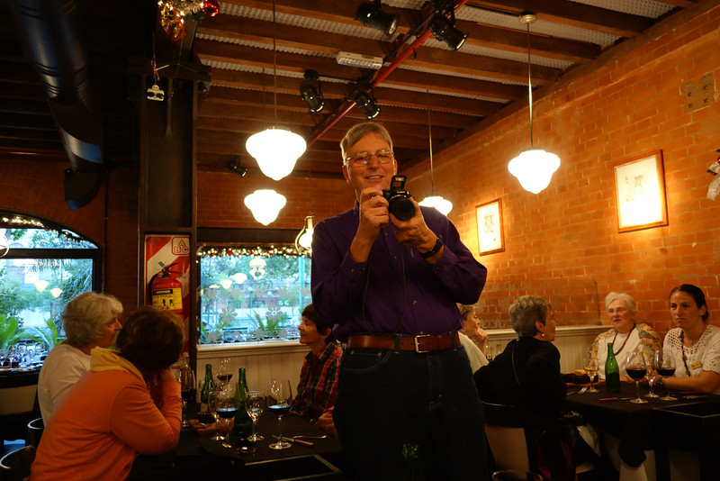 Me with the camera at our Farewell Dinner in Buenos Aires.
