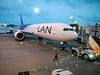 OAT Patagonia trip, Dec 2013.  LAN plane awaiting me in Miami.