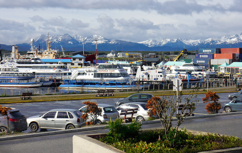OAT Patagonia trip, Dec 2013.<br /> Ushuaia, views from the tour bus.