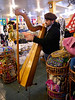 OAT Patagonia trip, Dec 2013<br /> This Harp player was in the souvenir shop/restaurant at the border crossing in Cerro Castillo, Chile.