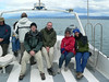On a boat in the Beagle Channel