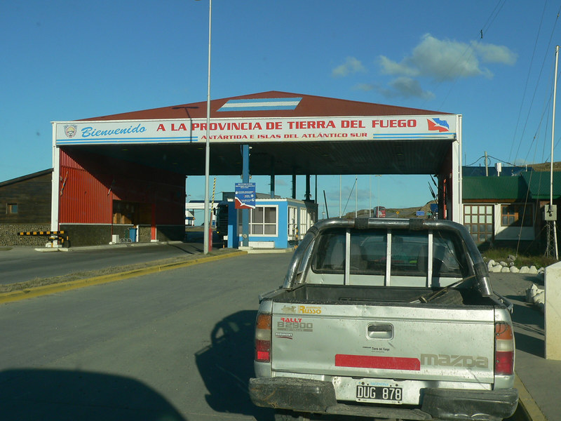 The Argentine border