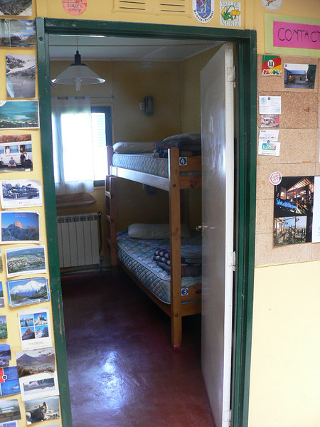 Our room in the hostel.