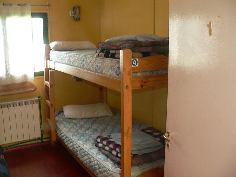 Corey got the top bunk!
