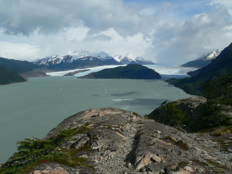 Grey glacier, and Grey Lake. The glacier is 7 miles across at its widest point.
