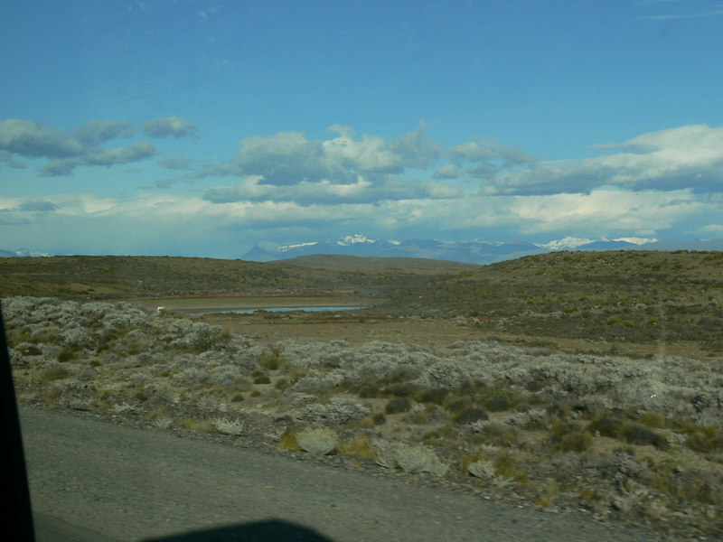 On the road south from El Calafate.