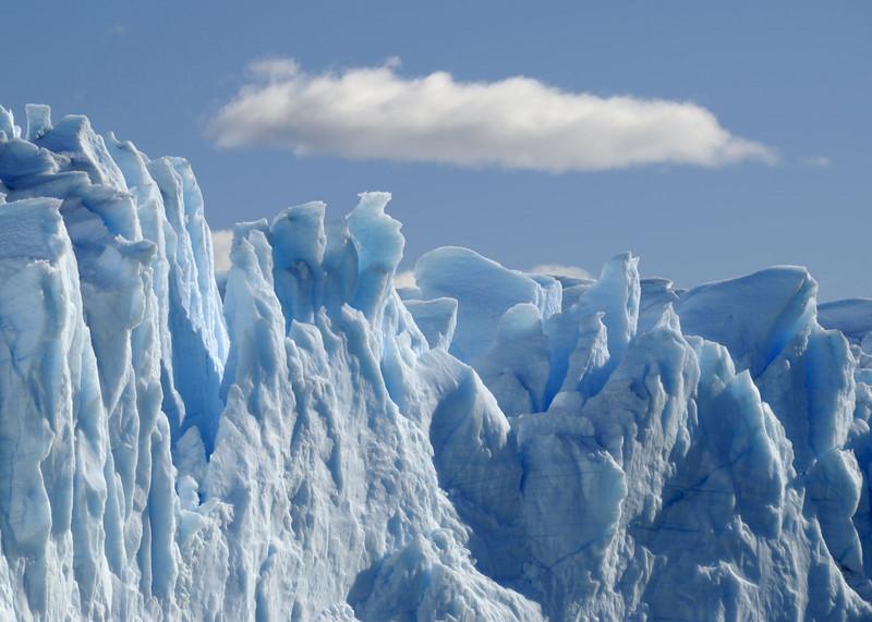 Glacier Moreno, ice formation